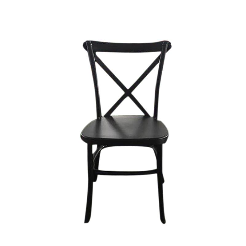 Vintage Black PP Resin X Back Chair