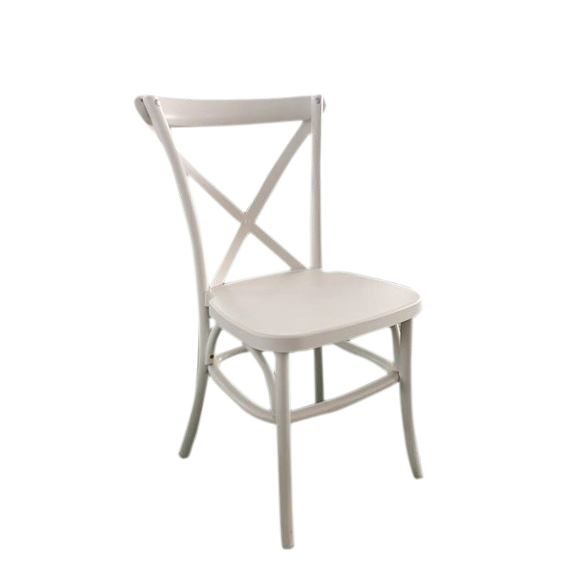 Vintage White PP Resin X Back Chair